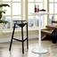 Launch Ultra-modern Aluminum Stacking Bar Stool, Black