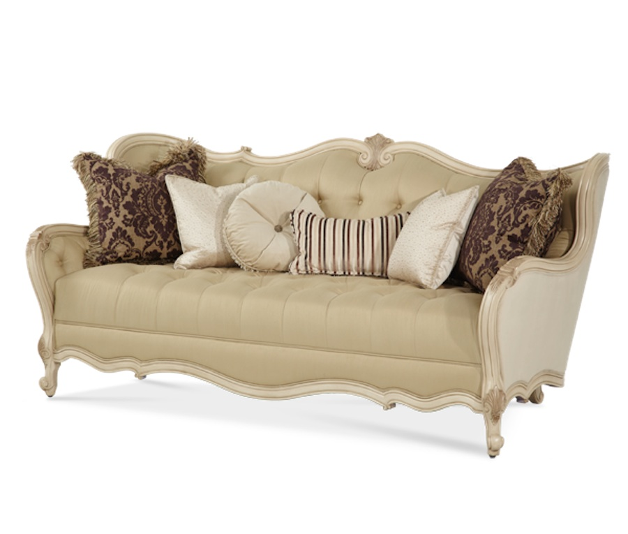 Michael amini lavelle blanc traditional luxury living room - Aico living room furniture collection ...