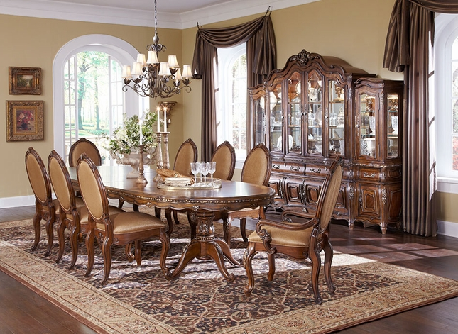 michael amini dining room furniture | Michael Amini Lavelle Melange Finish Dining Room Set by AICO