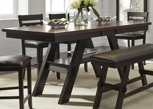 "Dining Table Light Height: Lawson 66""-78"" Counter Height Pedestal Dining Table In"
