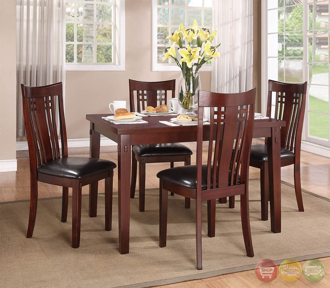 Leana Traditional Medium Wood Casual Dining Set RPCMO50