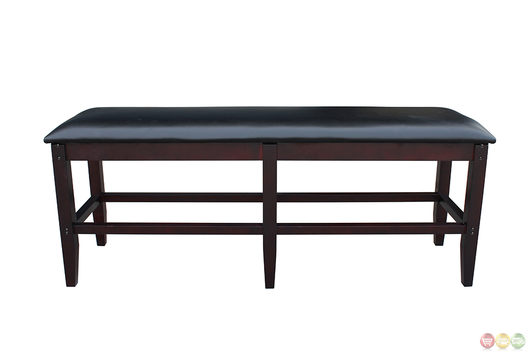 Pool Tables Leatherette Antique Walnut Storage Bench