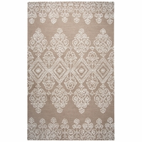 """Home Legacy Soft Wool Rectangle Runner Area Rug 2'6""""x 8' Ivory White Light Brown"""