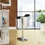 Lem Modern Backless Vinyl Bar Stool With Foot Rest And Chrome Finish, Black