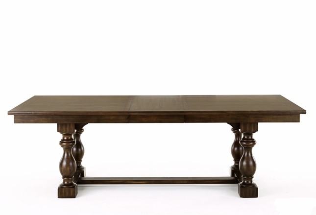 Leona Old World Contemporary Trestle Dining Table In