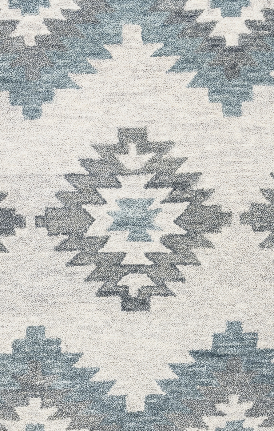 Leone Southwestern Motifs Diamond Wool Runner Rug In Ivory