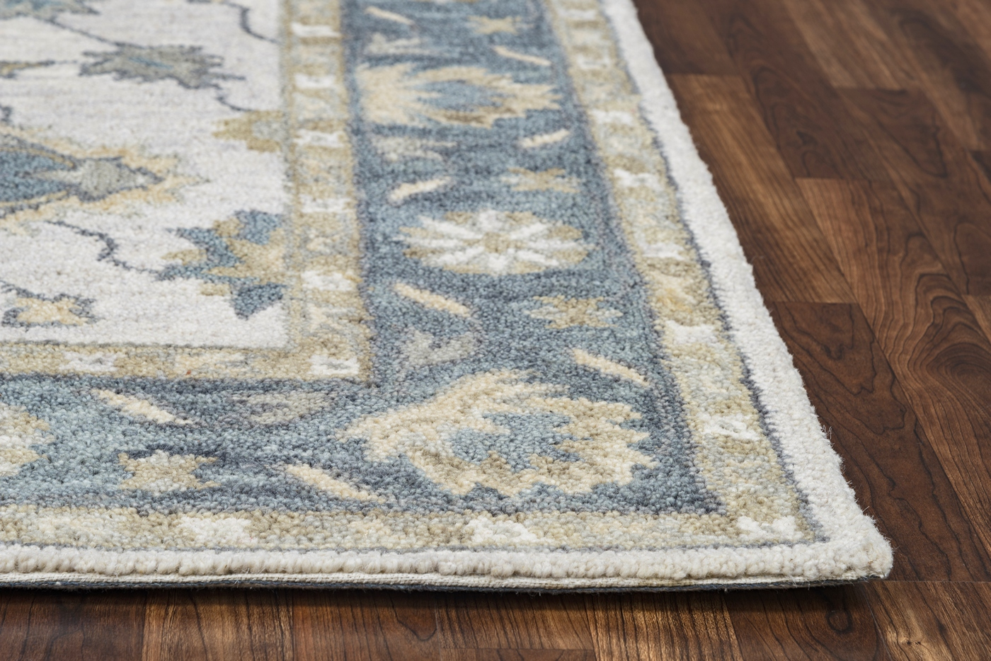Leone Traditional Motifs Vines Wool Area Rug In Natural