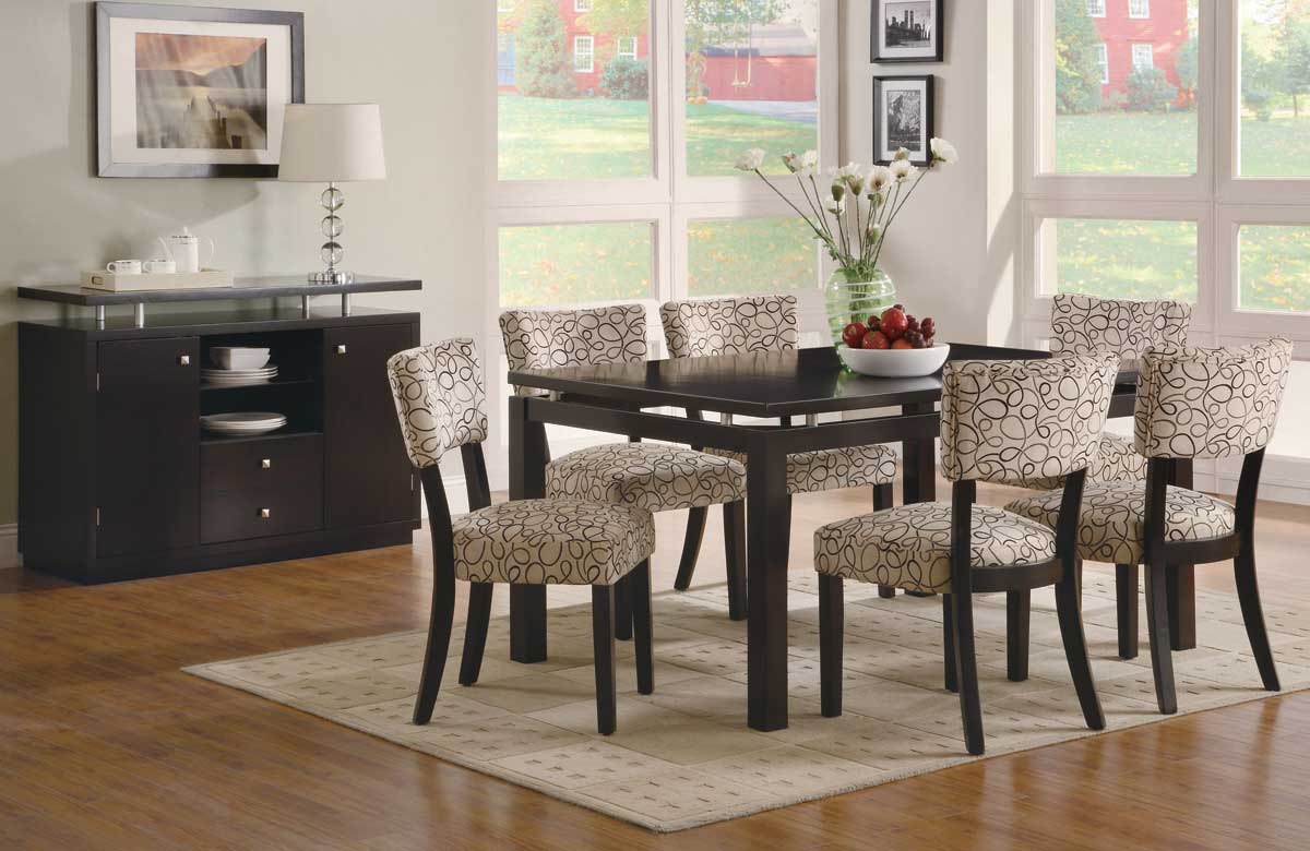D313 Modern Dining Room Set In White Lacquer Finish: Libby Dining Room Set Cappuccino Finish, Coaster