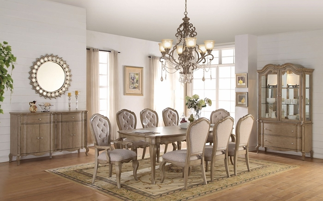 Lichfield Traditional Dining Room Furniture Set In Antique Taupe