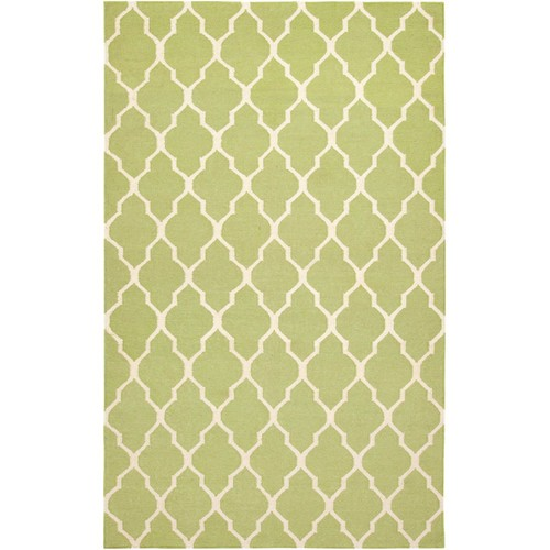 Rizzy Rugs Light Green Lattice Hand Woven Dhurrie Area Rug Swing SG2100