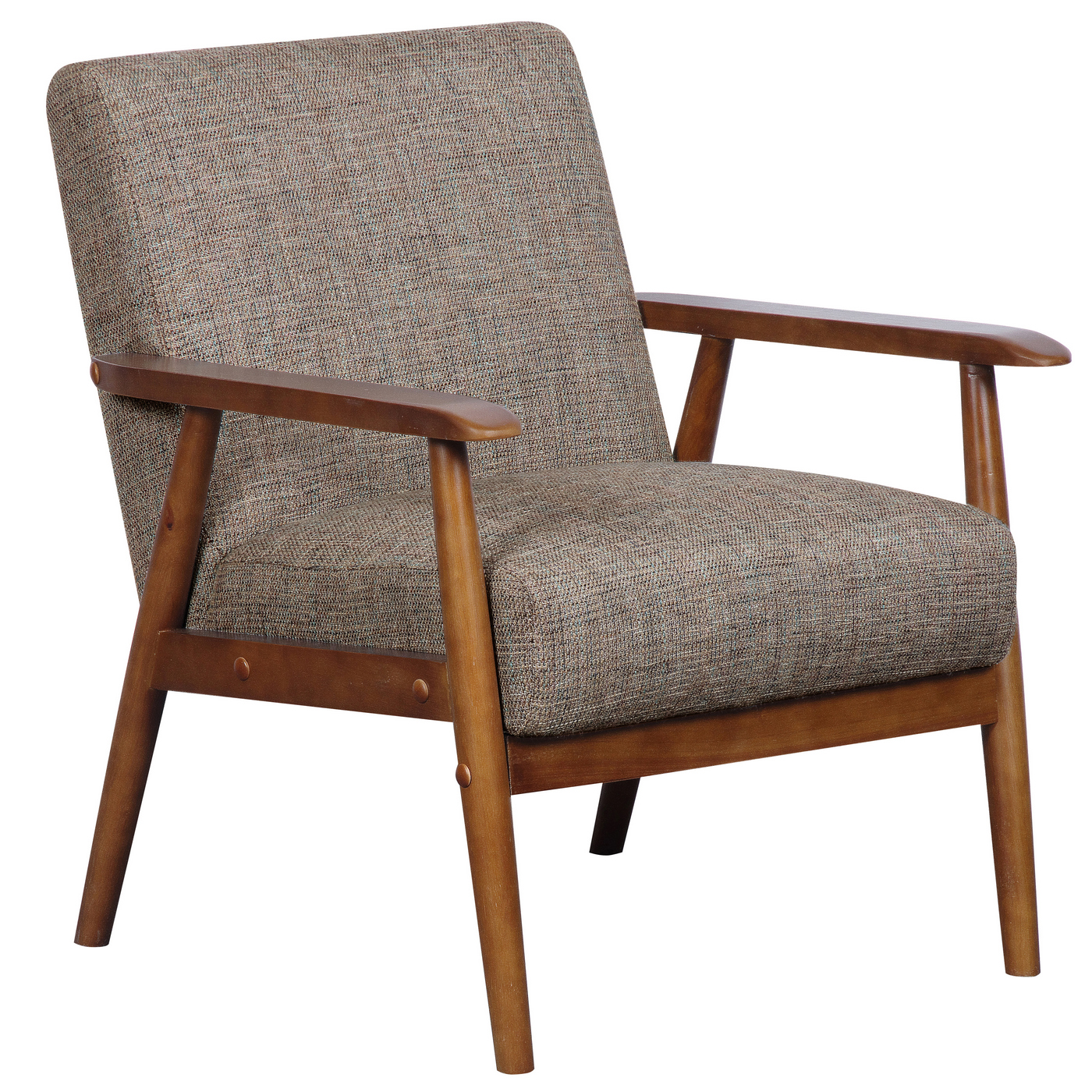Branchdale Wood Frame Accent Chair: Lillington Calypso Brown Linen Accent Chair With Exposed
