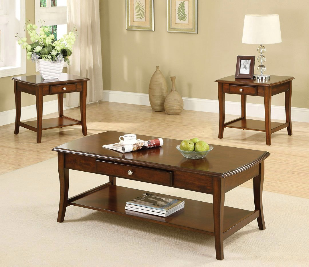 Lincoln Park Transitional Dark Oak Accent Tables With
