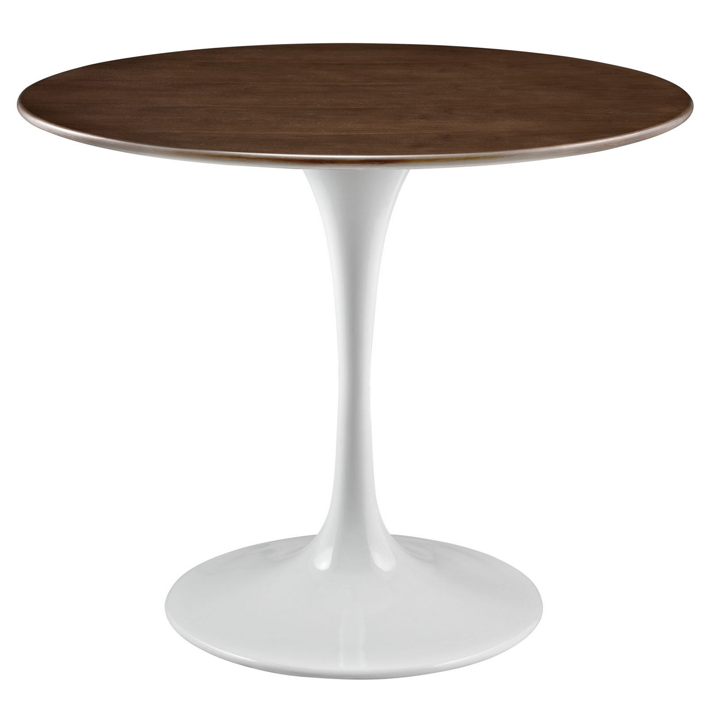 lippa 36 round walnut top dining table with lacquered finished base walnut. Black Bedroom Furniture Sets. Home Design Ideas