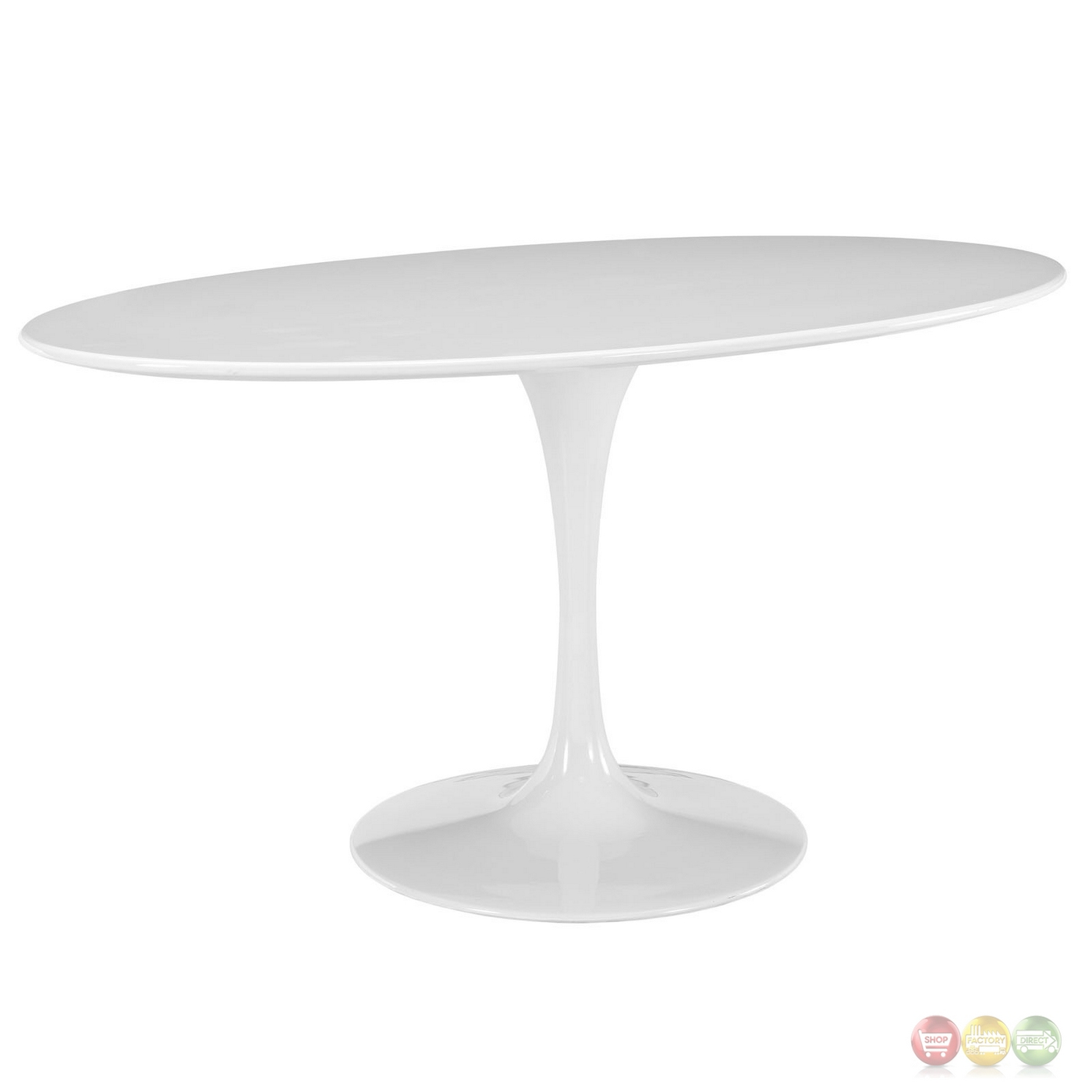Lippa 60 Quot Oval Shaped Wood Top Dining Table W Lacquered