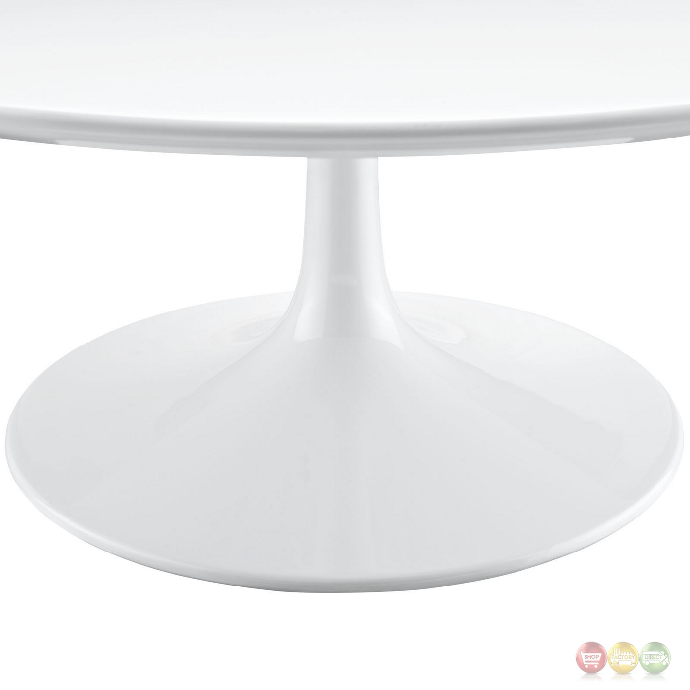 "Round Glass Pedestal Coffee Table: Lippa Modern 40"" Round Pedestal Coffee Table With"