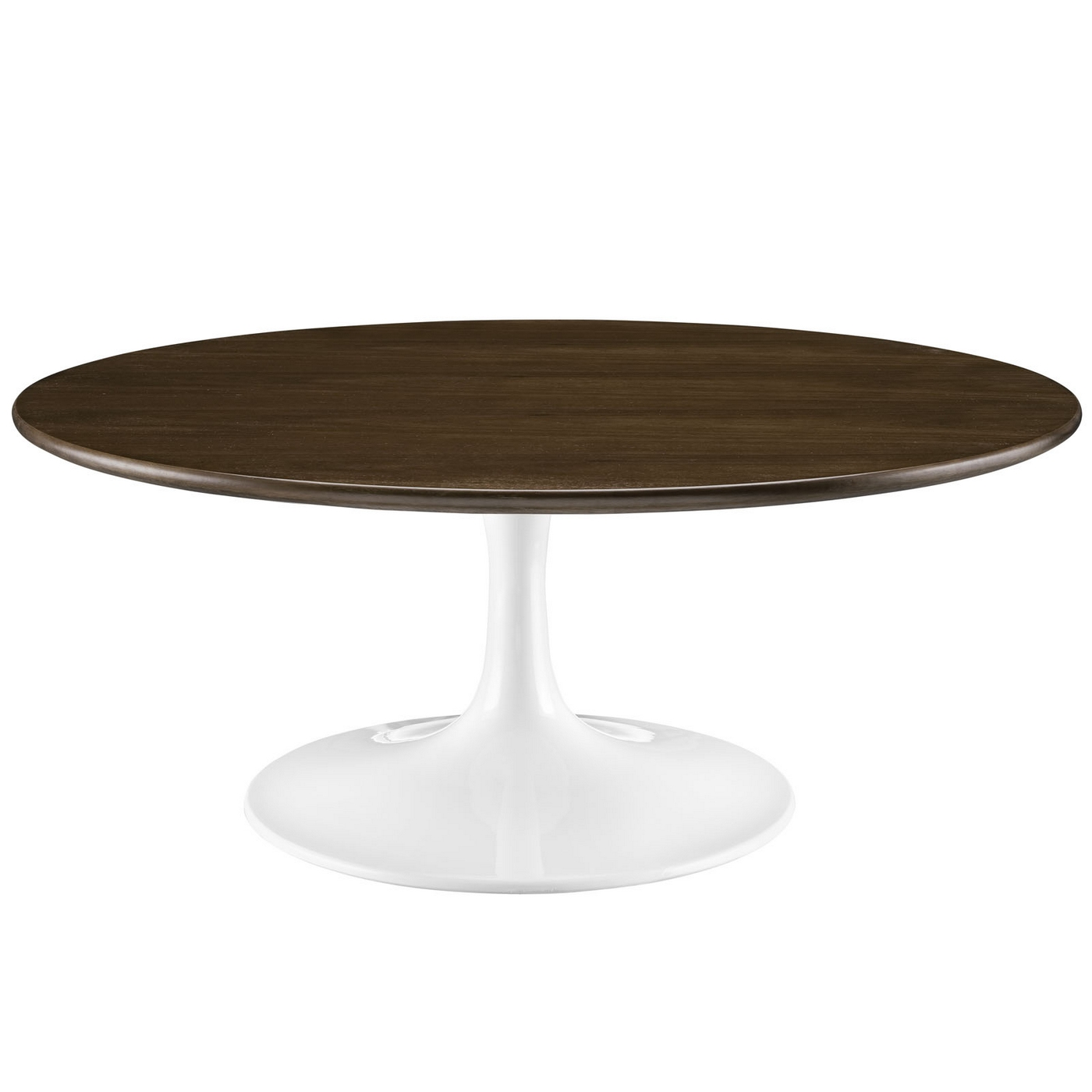 Lippa modern 40 round walnut coffee table with lacquered finish walnut Modern round coffee tables