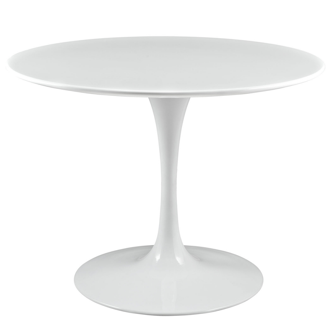 Lippa Modern 40 Round Wood Top Dining Table W Lacquered Finish White