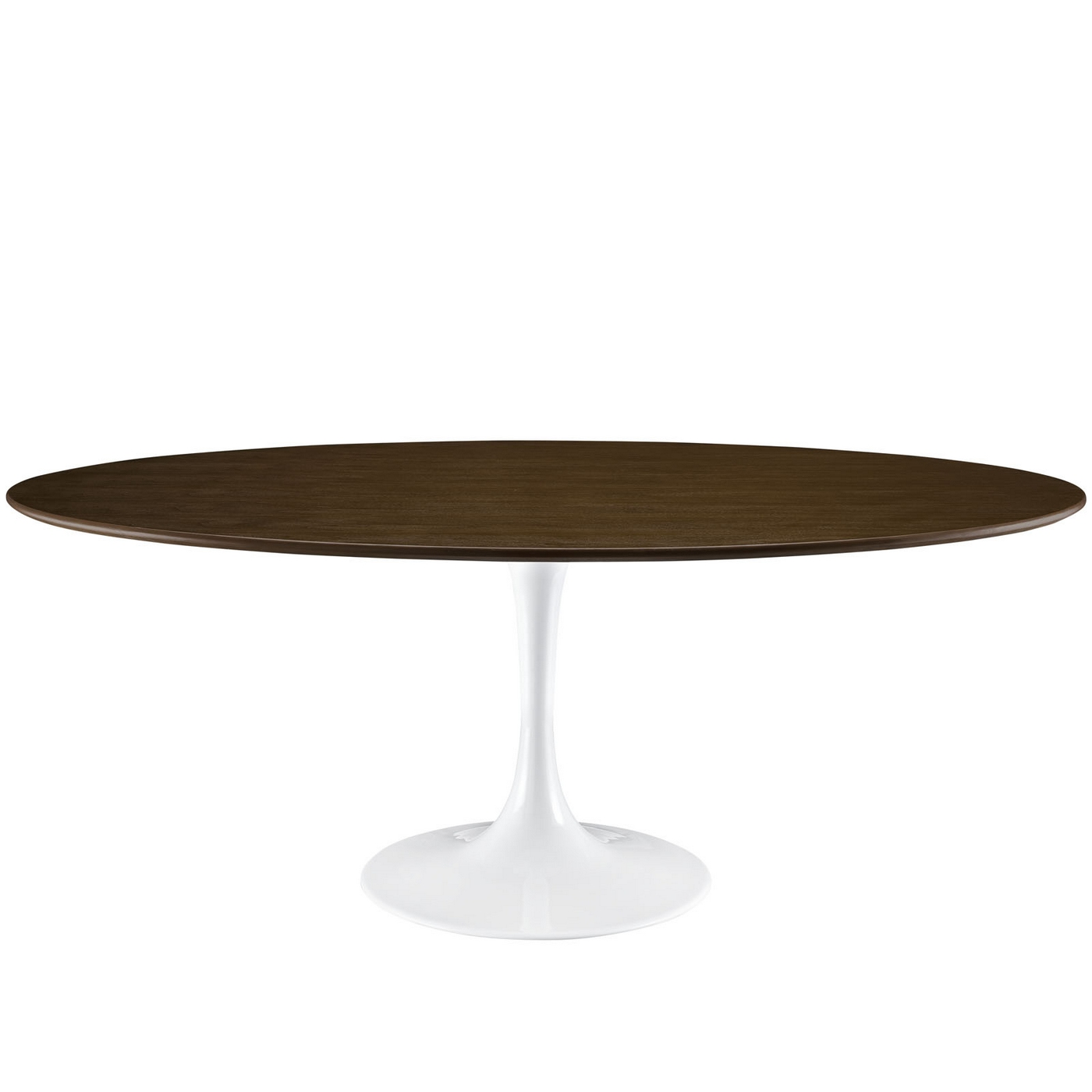 Lippa modern 78 round walnut dining table with lacquered for Modern round dining table