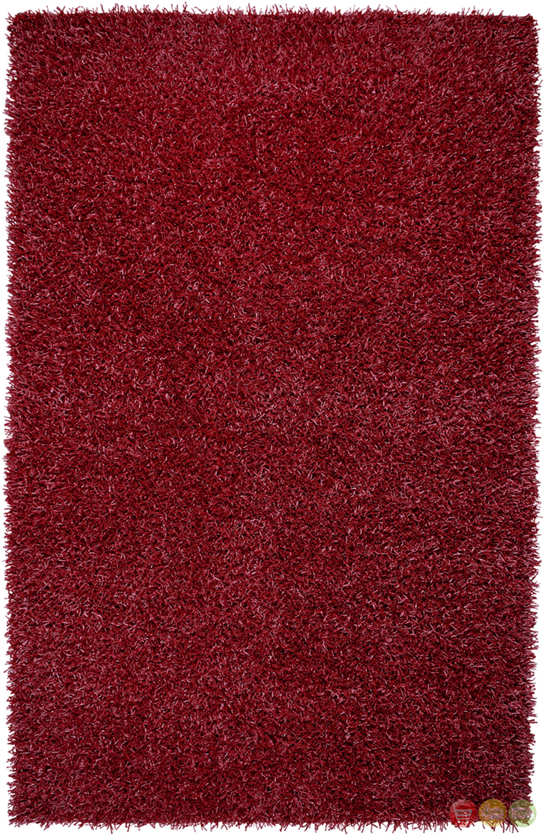 rizzy rugs lipstick red shag hand tufted area rug kempton