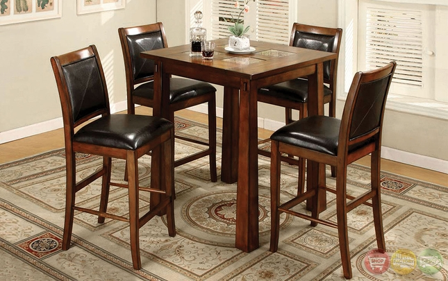 Living Stone Iv Tobacco Oak Counter Height Dining Set With