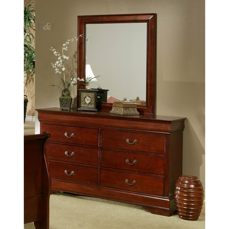Louis Philippe Queen Bedroom Set Cherry Wood Free Shipping