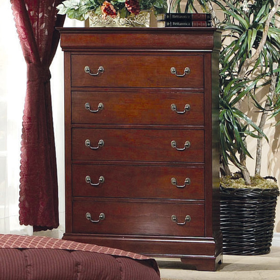 Louis philippe queen bedroom set cherry wood free shipping for Louis philippe bedroom collection