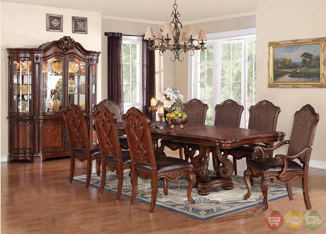 luciano traditional medium wood formal dining set rpcmo28