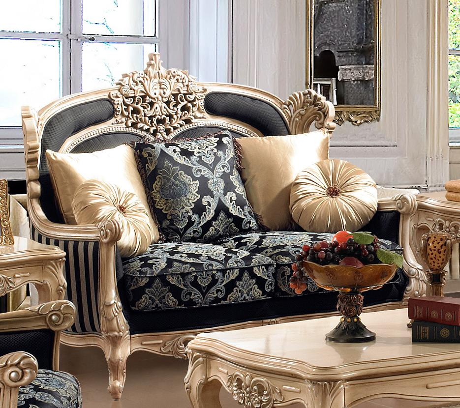 Traditional style formal living room furniture set hd 03 kd for Formal luxury living room sets