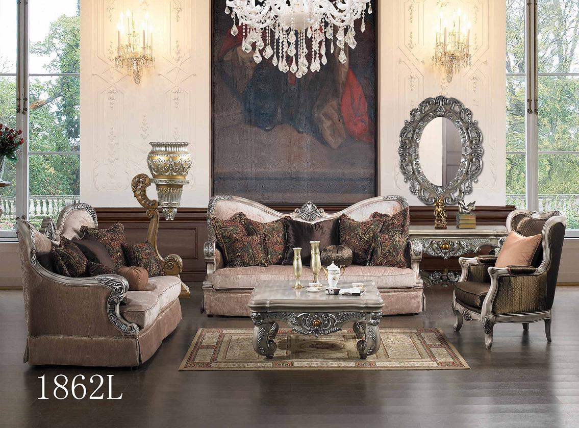 Luxurious traditional style formal living room set hd 1862l - Living room furniture traditional ...