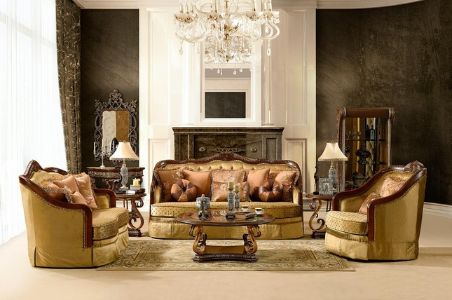 Luxurious traditional style formal living room set hd 3114 for Formal living room furniture sets