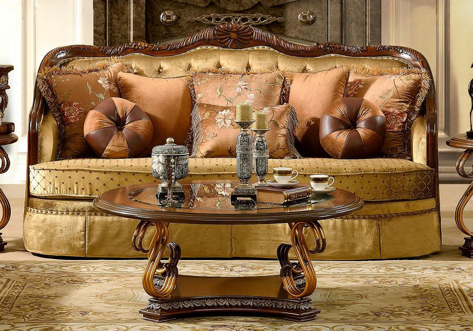 Luxurious traditional style formal living room set hd 3114 for Formal luxury living room sets