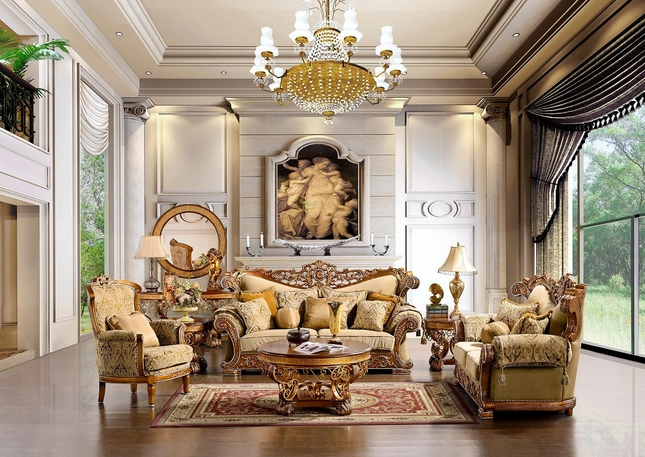 Luxurious Traditional Style Formal Living Room Furniture Set HD 369 (KD) Part 61