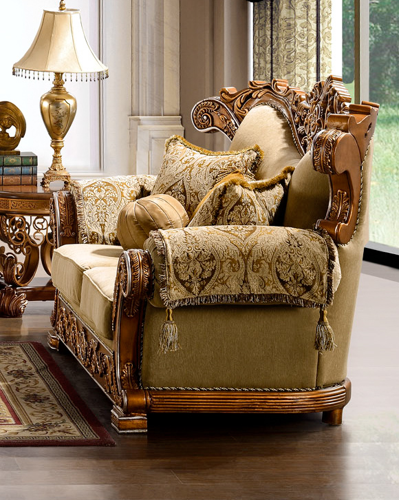 Luxurious traditional style formal living room set hd 369 - Formal living room furniture sets ...