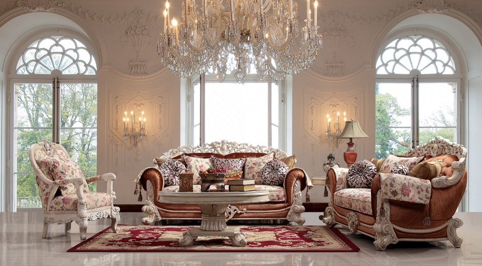 Luxurious traditional style formal living room set hd 372 for Formal living room furniture