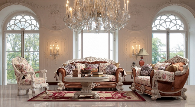 Luxurious Traditional Style Formal Living Room Furniture Set HD-372 (KD) - Luxurious Traditional Style Formal Living Room Set HD-372
