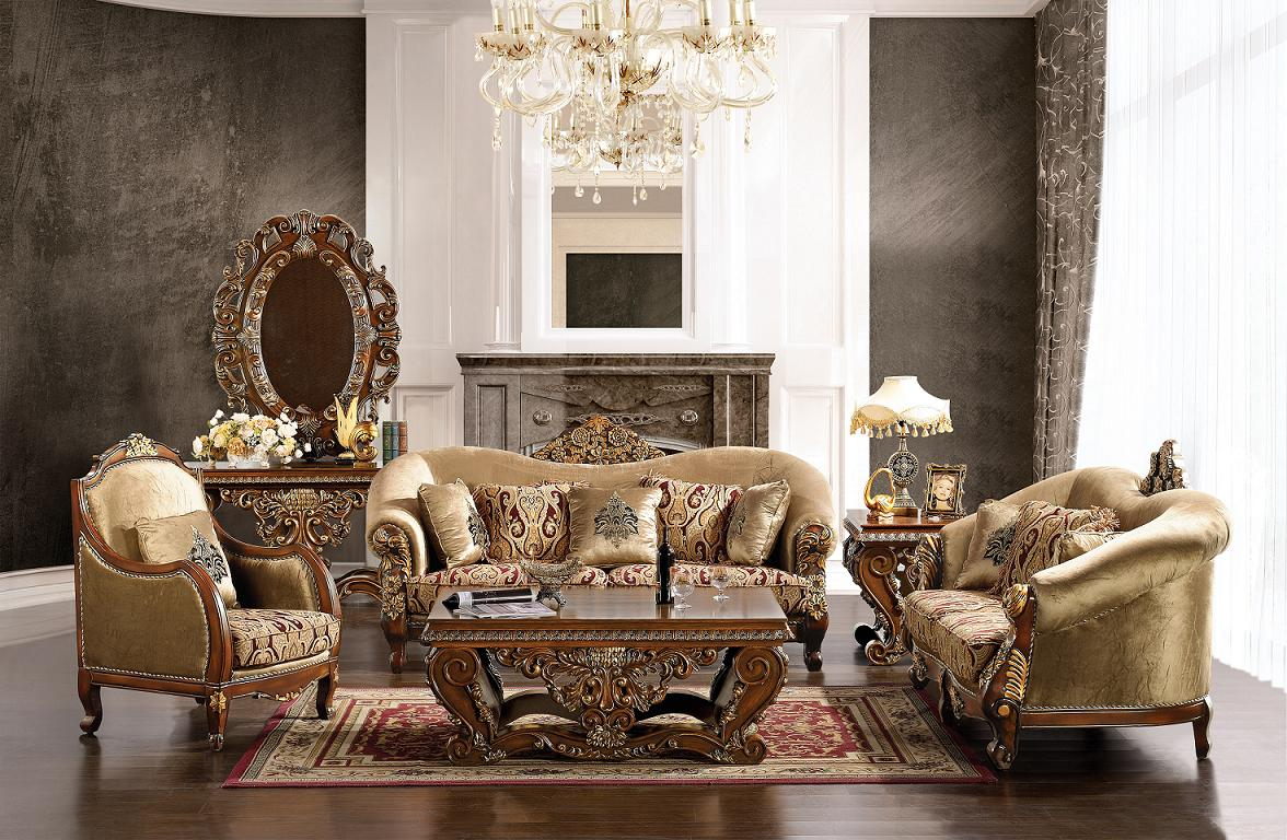 Luxurious traditional style formal living room set hd 379 for Traditional living room sets