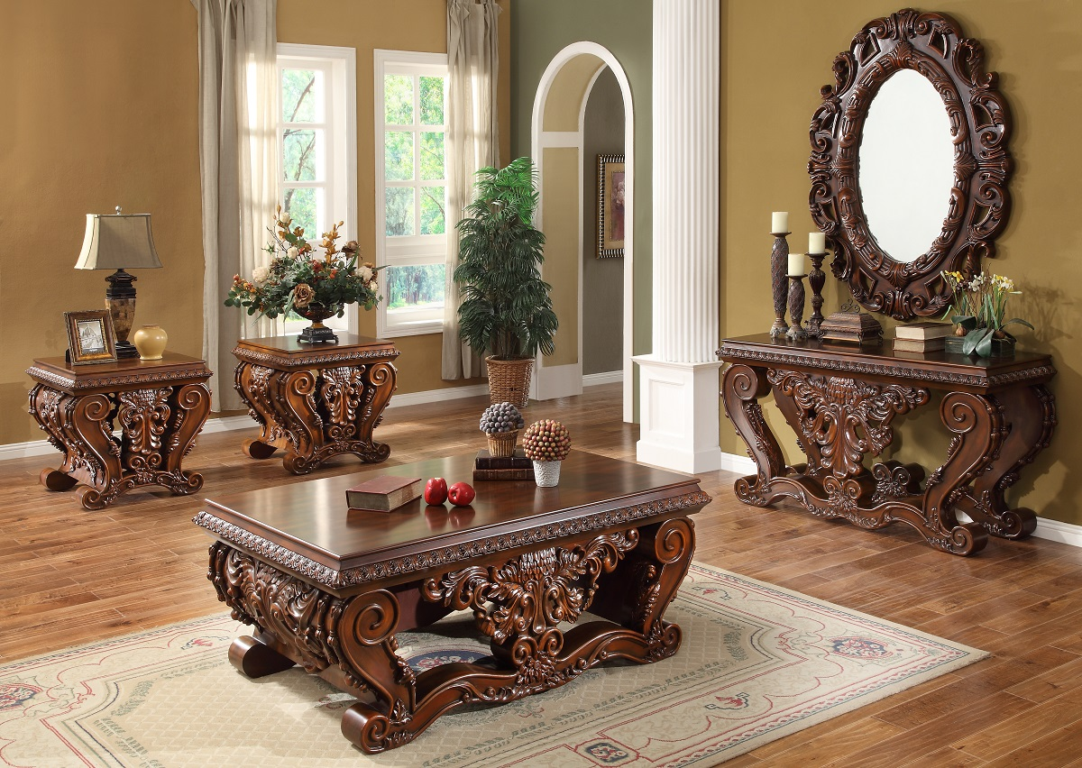 Luxurious traditional style formal living room set hd 379 - Living room furniture traditional ...