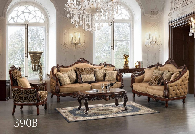 Luxurious Traditional Style Formal Living Room Set HD-390B