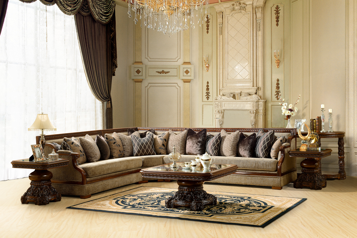 Luxurious traditional style formal living room set hd 461 - Formal living room furniture sets ...