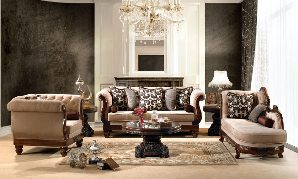 Luxurious traditional style formal living room set hd 462 for Traditional living room sets