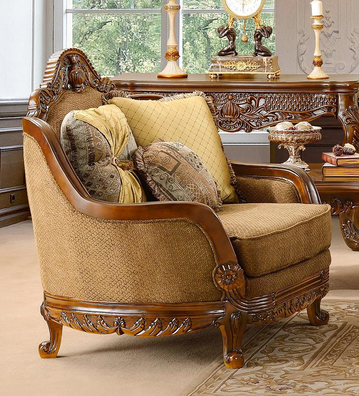Luxury Formal Living Room Furniture w/ Carved Wood HD-481