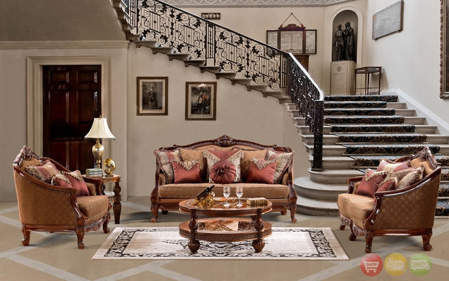 Luxurious traditional style formal living room set hd 904 - Traditional sofa sets living room ...