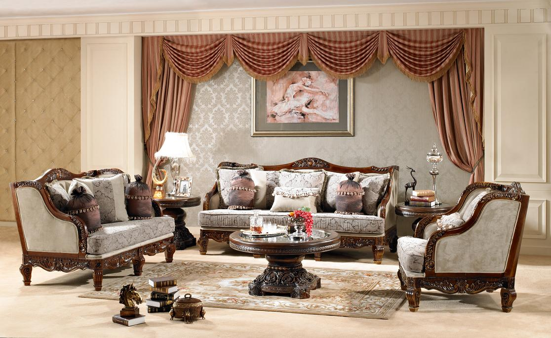 Living Room Chair Styles: Luxurious Traditional Style Formal Living Room Set HD-912
