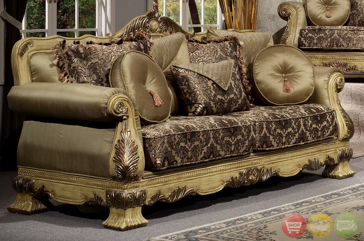 Luxury antique style formal living room furniture set hd 913 for Luxury living room furniture collection