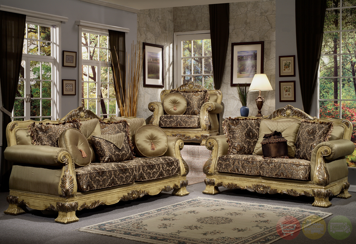Luxury antique style formal living room furniture set hd 913 for Vintage style living room furniture