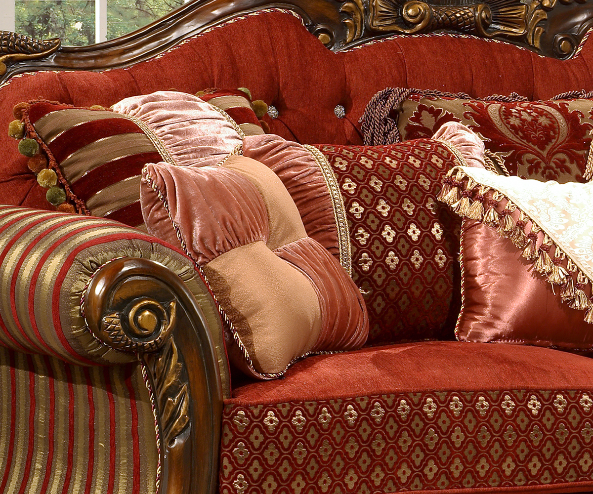 Traditional Designer Furniture: Luxury Formal Living Room Sofa, Love Seat Homey Design HD-257