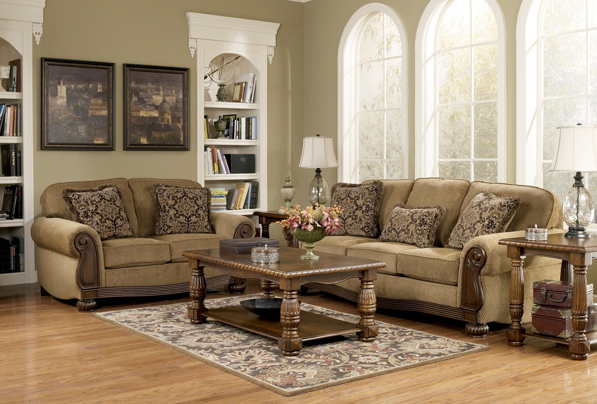 Lynnwood traditional living room furniture set by ashley - Traditional sofa sets living room ...