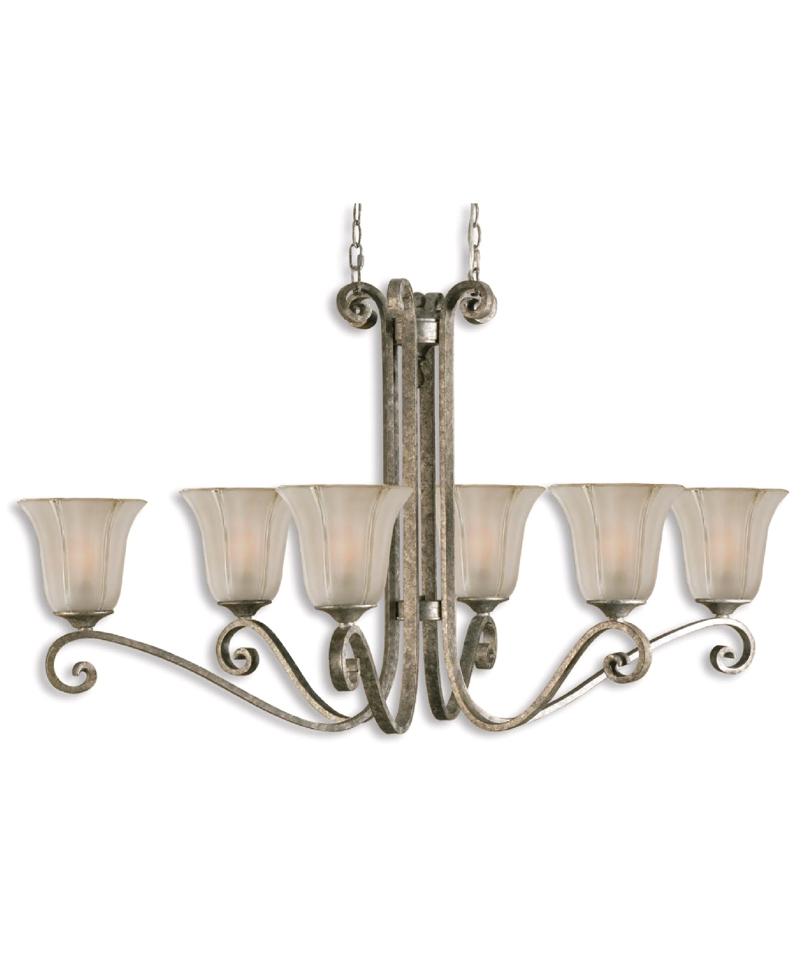 Lyon contemporary 6 light silver chandelier 21147 for Novea lyon 6