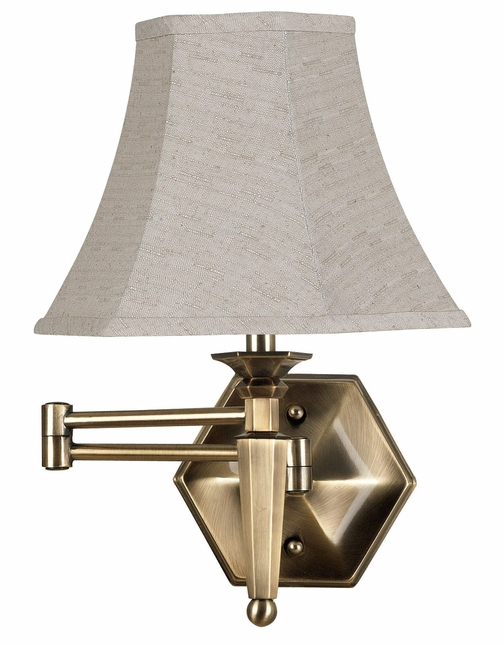 Mackinley Georgetown Bronze Finish Wall Swing Arm Lamp