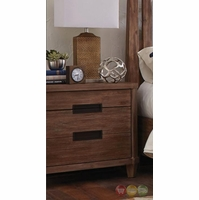 Madeleine 3 Drawer Smoky Acacia Nightstand With USB Outlet